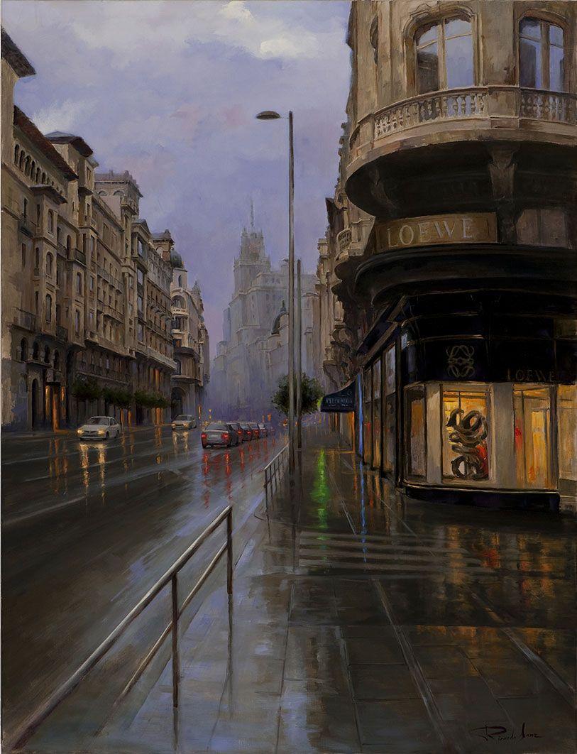 Ricardo-Sanz-La-Gran-Via-entre-dos-luces-116X89-cms