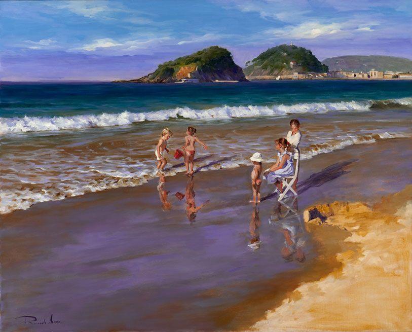 Ricardo-Sanz-Ninos-en-la-playa-81X100-cms-EN-VENTA